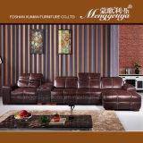 Sofá reclinable de cuero genuino con la Tabla de almacenamiento (625 #)