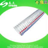 Boyau renforcé clair en plastique de pipe de débit industriel de l'eau de fil d'acier de PVC