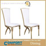 Moderner Form-Esszimmer-Edelstahl, der Stuhl speist