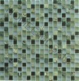 Tuile de mosaïque - mosaïque en pierre en verre de tuile de mosaïque en verre vert (GS30)