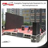 イベントの段階は4FT x 4FTの単位のサイズの屋外段階使用した
