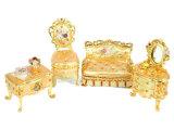 Boîte de bijoux, boîte de bijoux d'alliage, boîte de bijoux en métal (54)