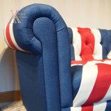 Sofà sezionale moderno di stile di modo britannico del tessuto (MI)