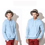 100%Cotton Plain Hoodie der Hoodie Männer blaue Stickerei Hoodie