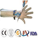 Guanti resistenti tagliati metallo della posta Chain dell'acciaio inossidabile Gloves/Long-Sleeve della maglia Gloves/Long-Sleeve dell'anello del Lungo-Manicotto