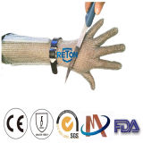 Lang-Hülse Metall geschnittene beständige Kettenhemd-Handschuhe des Ring-Ineinander greifen-Gloves/Long-Sleeve des Edelstahl-Gloves/Long-Sleeve