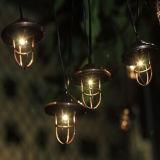 Lanterna solare 10 LED della stringa del pescatore del metallo