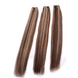 ハイライトのRemyの人間の毛髪の拡張、人間の毛髪のよこ糸