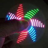 Hilandero ligero del dedo del hilandero de la persona agitada del hilandero de la mano del LED