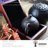 Rectángulo de joyería de madera de lujo de encargo de Hongdao con la venta al por mayor del trazador de líneas