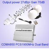 repeater st-1085b van het Signaal Booster/GSM van de Band 850MHz+1900MHz van 27dBm de Dubbele