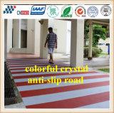 Kristallgleitschutzstraßen-Bodenbelag mit farbiger Kristallgesamtheit färben