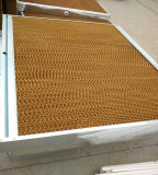 Almofada refrigerar de ar para o sistema de ventilação na casa da exploração agrícola