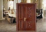 Hochwertige rote Walnuss-eindeutige feste hölzerne Tür