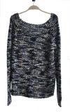 Chandail de pull de Knit de filé de fantaisie des dames 100%Acrylic