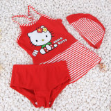 Cute and Lovely Swimming Suit para Girl 2017 Hot Lovely Hello Kity