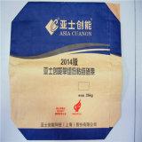 Bolso del cemento de la alimentación del embalaje del papel de Kraft de la parte inferior cuadrada/plana, bolso tejido PP