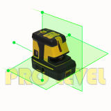 Querzeile und fünf der Laser-Punkte Stufen-(G25)
