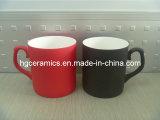 Tasse fine de Chine d'os de Latte de changement de couleur noir ; Tasses de sublimation