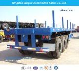 rimorchio del camion della base piana dell'asse di 40FT 3 Fuwa semi o rimorchio del camion con la battagliola e la copertina