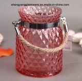 De draagbare Kruik van de Kleur van de Kruik van de Kaars van het Glas