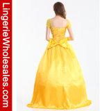 Princesa de luxe Traje do traje de Bella do vestido extravagante do partido de Halloween das mulheres