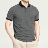 T-shirt fait sur commande de polo d'hommes de logo brodé par coton 100% de vente en gros
