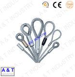 Веревочка мягкая, соединенная веревочка провода с Ferrules, двойная веревочка слинга такелажирования петли