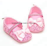 Ботинки малыша младенца младенца мягкие нижние