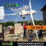 fora-Grade da turbina de vento da linha central 20kw e sistema horizontais da em-Grade