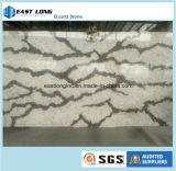 La meilleure pierre de quartz de couleur de marbre de vente pour les matériaux de construction extérieurs solides de dessus de vanité de partie supérieure du comptoir