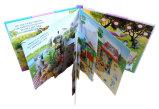 A impressão de papel estala acima o livro para o miúdo com o ponto UV