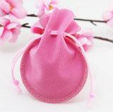 Rosafarbener Samt-Geschenk-Beutel-Beutel