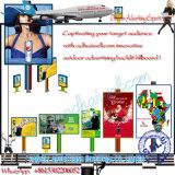 Quadro de avisos Backlit do poster da cidade do carrinho do projeto bandeira eletrônica brilhante agradável