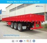 3 трейлер кровати груза Axle 40FT высокий или Semi трейлер с бортовой стеной