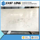 Bancada branca de quartzo do gelo americano popular da cor da pedra da cozinha do projeto