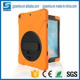 Польностью защитная крышка случая силикона с Stand+Hand Band+Backstrap для воздуха iPad