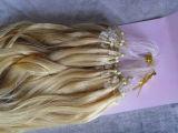 Extensión del pelo humano del lazo del anillo de Mirco, pelo 100% de la Virgen