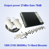 Tri-Band Handy-Signal-Verstärker, 2600 1800 2100MHz 2g 3G 4G Signal-Zusatzgeräten-/China-mobiler Signal-Verstärker