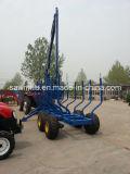 De Lader van het Logboek van de Aanhangwagen van het Logboek ATV met Aanhangwagen