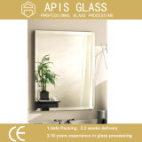 Duas camadas de espelho impermeável do banheiro da prata da pintura, espelho cosmético, espelho da parede, espelho do frame