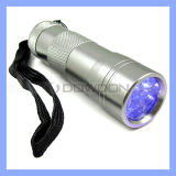 12 LED UVFlashlight Torch voor Hygiene Checks en Detecting Pet Urine (torch-01)