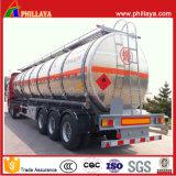 reboque de alumínio do petroleiro do leite da água 3axles/petróleo para a venda