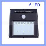 6 SMD LED PIR Bewegungs-Sensor-Solarlampen-energiesparende Straßen-/Garten-Wand-Leuchte
