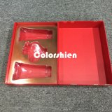 Rectángulo de regalo rojo asombroso de la visualización del embalaje del perfume