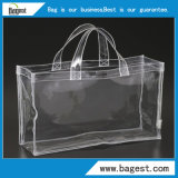 Sac à main en plastique personnalisé de cadeau de sac à provisions de PVC avec le traitement