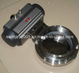 Ss304 Ss316L Material를 가진 스테인리스 Steel Sanitary Butterfly Valve