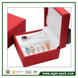 Caixa de jóias de plástico personalizada com couro PU