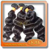 Alta qualidade frouxa do estilo da onda do cabelo indiano