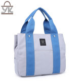 Moda Lazer Contraste Color Canvas Women Handbag